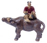 Man with Water Buffalo