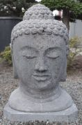 Buddha head out of lava - 60 cm